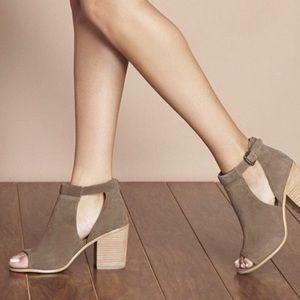 Sole Society Ferris open toe booties • new